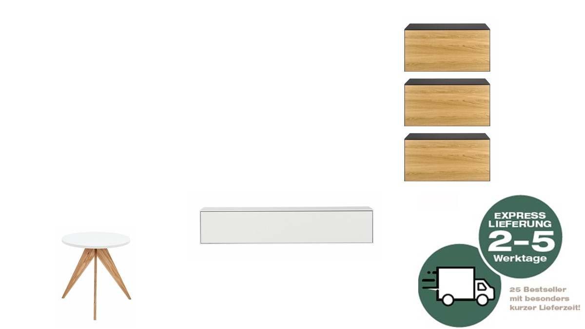 NOW! 25 Urban Jungle Wohnzimmer-Kombination von Daniel Dombrovsky mit Beistelltisch NOW!25 CT71
