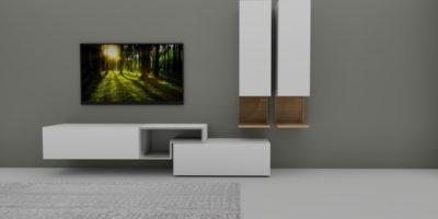 Crossover-Wohnwand aus NOW! for you und hülsta TETRIM